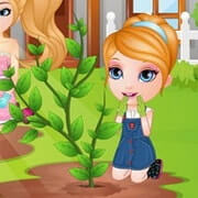 Baby Barbie Learns Gardening