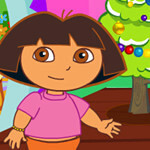 Baby Dora Christmas Room Clean
